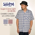 "SALE!! \10,584-⇒\7,408-!! 30%OFFセール!! 東洋エンタープライズ、SUGAR CANE Light シュガーケーンライト、""SC38180""、オンブレーチェックオープンカラーシャツ [S/Sシャツ]"