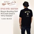 """STYLE EYES スタイルアイズ、""""SE37554""""、レーヨンボーリングシャツ """"WYTL RADIO"""" [S/Sシャツ]"""