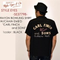 "STYLE EYES スタイルアイズ、""SE37798""、レーヨンボーリングシャツ ""CARL FINCH and SONS"" [S/Sシャツ]"