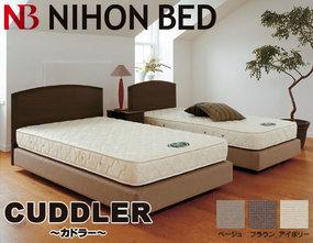 ■日本ベッド フレーム カドラー ダブルクッションベッド フレーム セミダブル ロング ベッド 日本ベッド 【代引き不可】(SDL‐カドラー