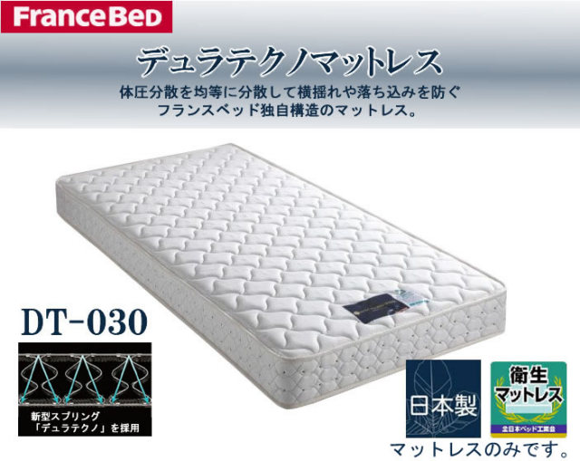 フランスベッド製 新Z型スプリングマットレス ダブル DT-033 DT-033 防ダニ 抗菌 防臭 加工 送料無料