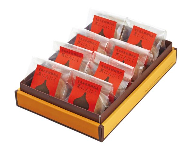 黒にんにく 青森県産醗酵熟成黒にんにく 完全無添加 ギフトボックス入り (2L玉8個入)