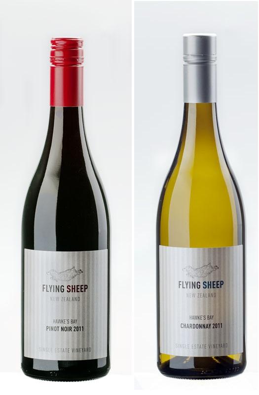 ワイン ニュージーランド フライングシープ ワイン  (ピノノワール・シャルドネ) 750ml 2本セット