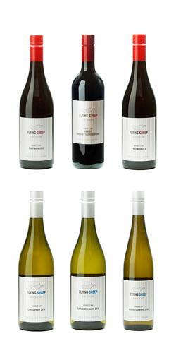 ワイン ニュージーランド ワイン フライングシープワイン 750ml 6本セット (ピノノワール・メルロー/カベルネ、サンジョベーゼ:ソーヴィニヨンブラン、シャルドネ、ゲベルツトラミネール) 送料無料
