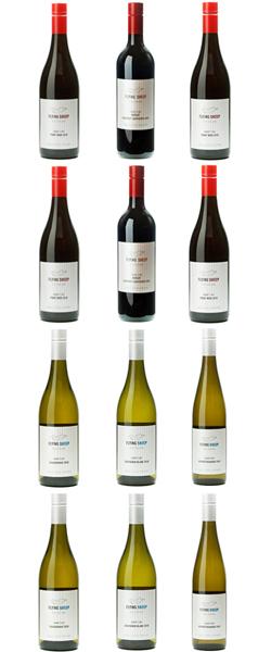 ニュージーランド ワイン フライングシープワイン12本セット 750ml (各2本) (ピノノワール・メルロー/カベルネ、サンジョベーゼ:ソーヴィニヨンブラン、シャルドネ、ゲベルツトラミネール) 送料無料