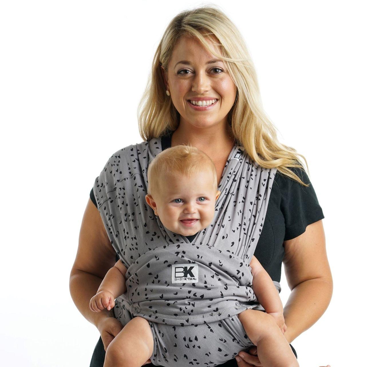 抱っこ紐 スリング ベビーケターン プリント スイートハート グレー 新生児 簡単 コンパクト