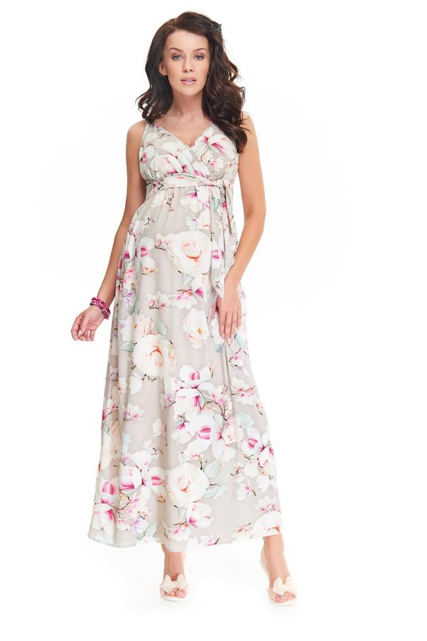 ナインファッション マタニティマキシワンピース HELLE フラワーパターン セール
