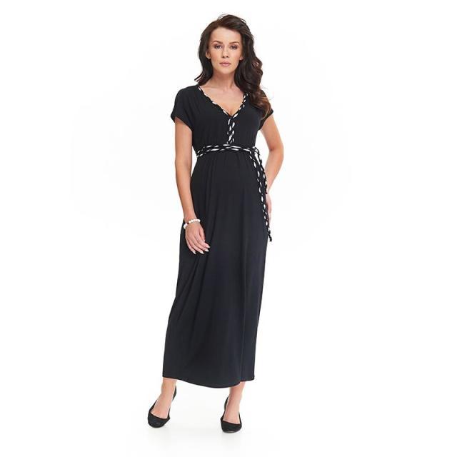 ナインファッション マタニティマキシワンピース LIVIA ブラック