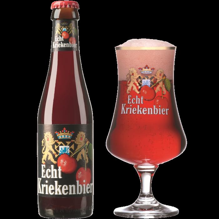 エヒテ・クリーケンビール瓶250ml_ボトル+グラス