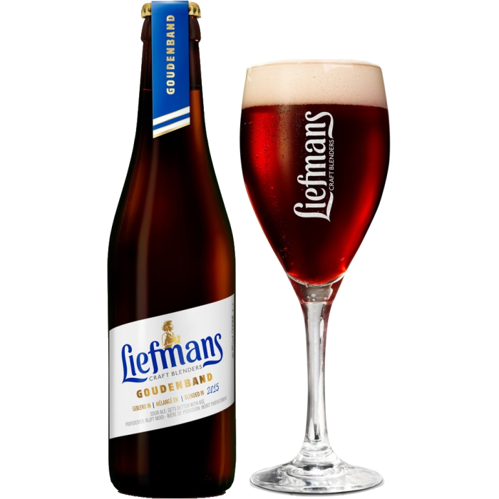 リーフマンス・グーデンバンド瓶330ml_ボトル+グラス
