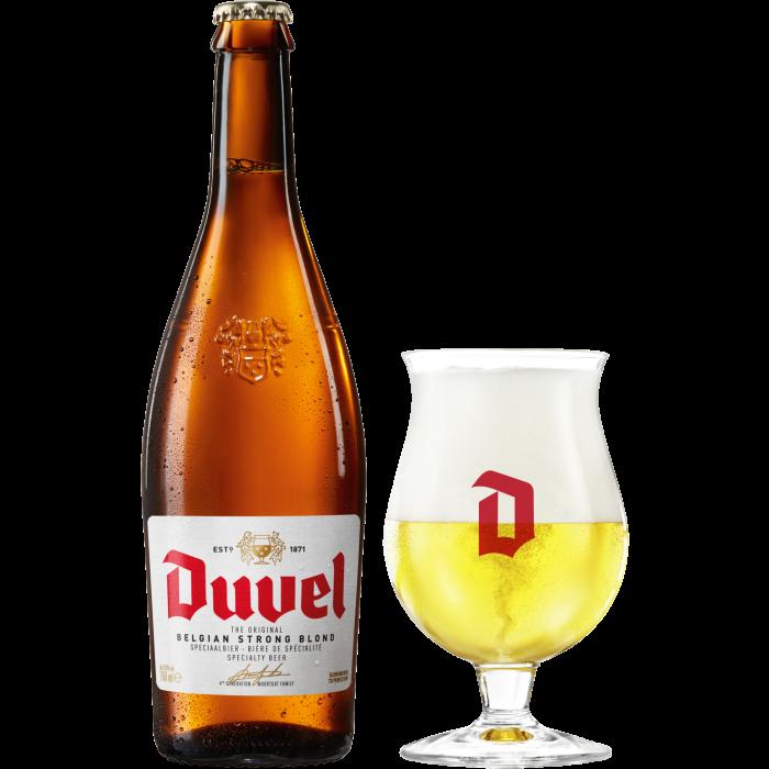 デュベル瓶750ml_ボトル+グラス
