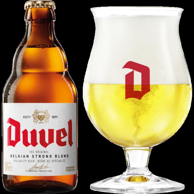 デュベル瓶330ml_ボトル+グラス