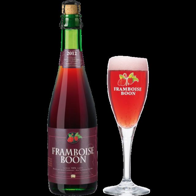 ブーン・フランボワーズ瓶375ml_ボトル+グラス