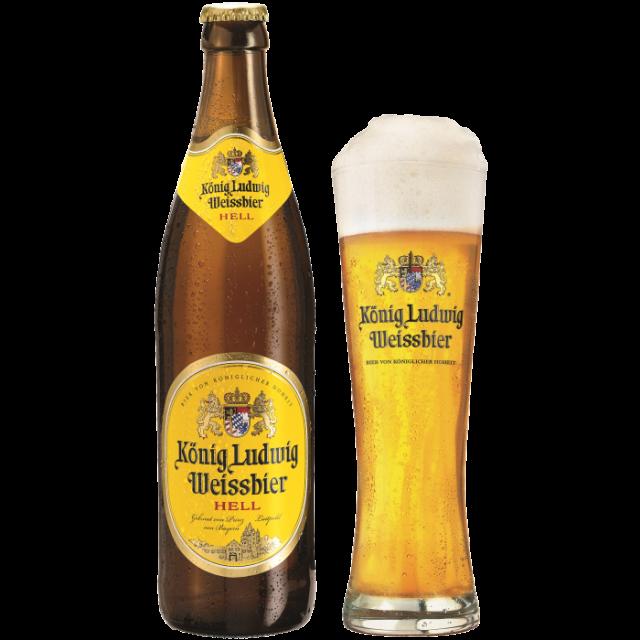 ケーニッヒ・ルードヴィッヒ・ヴァイスビア瓶500ml_ボトル+グラス