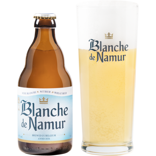 ブロンシュ・デ・ナミュール瓶330ml_ボトル+グラス