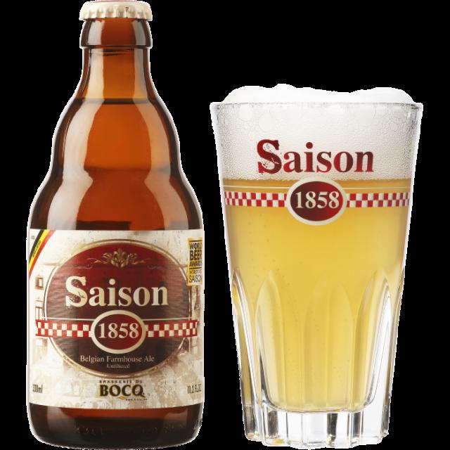 セゾン1858瓶330ml_ボトル+グラス