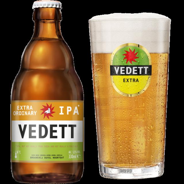 ヴェデット・エクストラ・IPA瓶330ml_ボトル+グラス