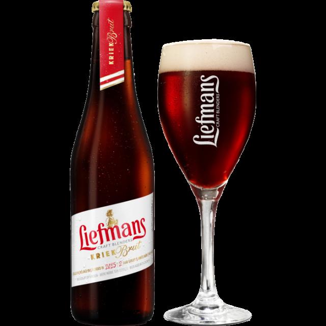 リーフマンス・クリーク・ブリュット瓶330ml_ボトル+グラス