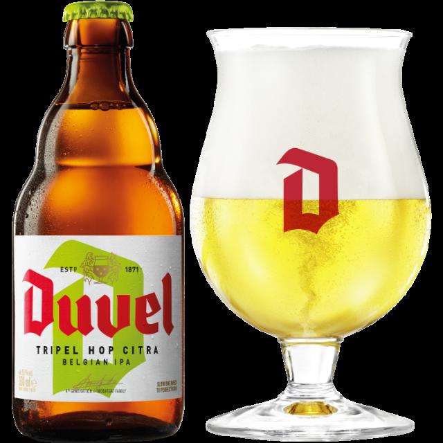 デュベル・トリプル・ホップ瓶330ml+グラス