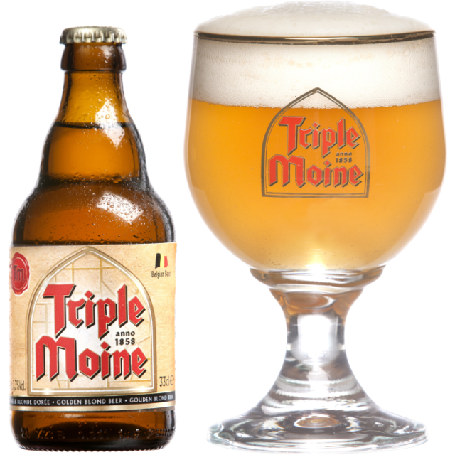 トリプル・モワン瓶330ml_ボトル+グラス