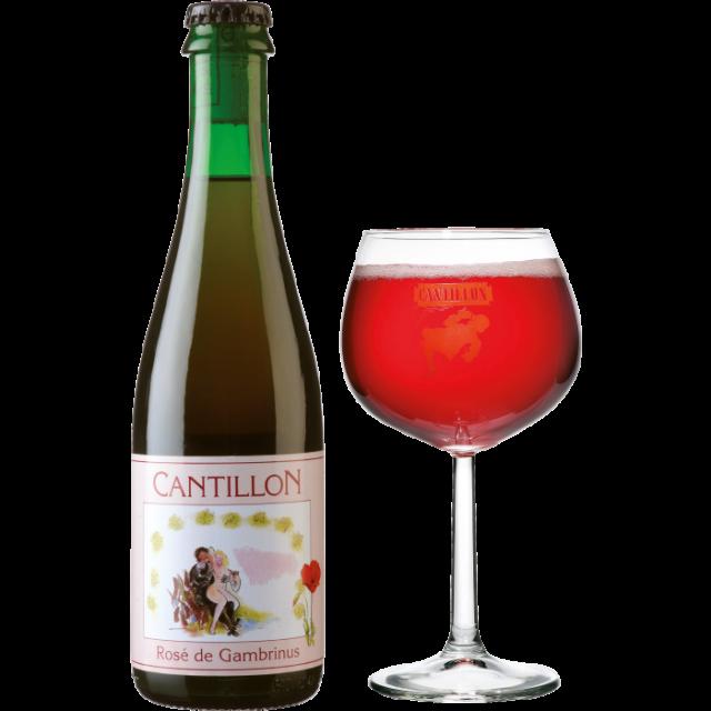 カンティヨン・フランボワーズ瓶375ml_ボトル+グラス