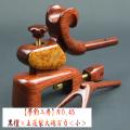 【夢釣工房】NO.45 紫檀×玉花梨大砲万力(極小)