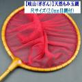 【岐山(ぎざん)】天然ひのき玉網・尺サイズ(2.0mm目網付)レッド