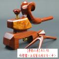 【夢釣工房】NO.90 紅紫檀×玉花梨大砲万力(中)