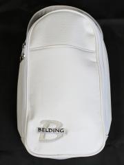 シューズバッグ - ホワイト (ロゴ刺繍シルバー)