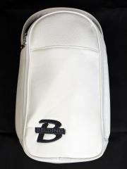 シューズバッグ- ホワイト(ロゴ刺繍ブラック)