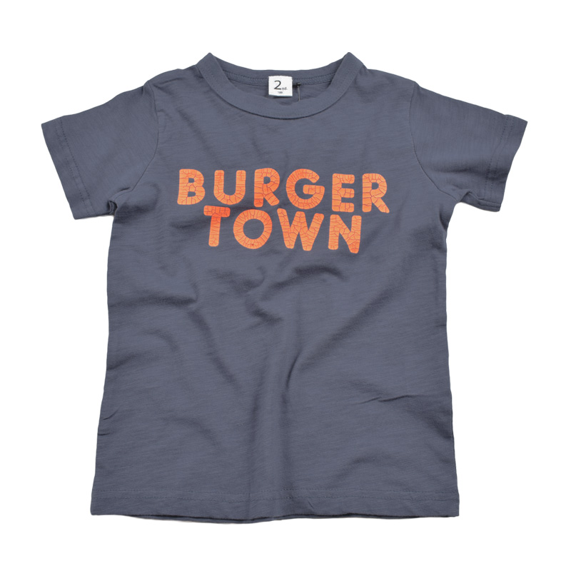 br-20sp-800103_NV BURGER Tシャツ [NV.ネイビー] 【Jeans-b 2nd】【春夏物】
