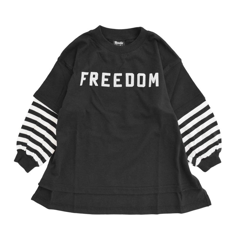 nw-21aw-2221208_BLACK Big Layered Tシャツ [ブラック] 【NEEDLE WORKS】【21年秋冬物】