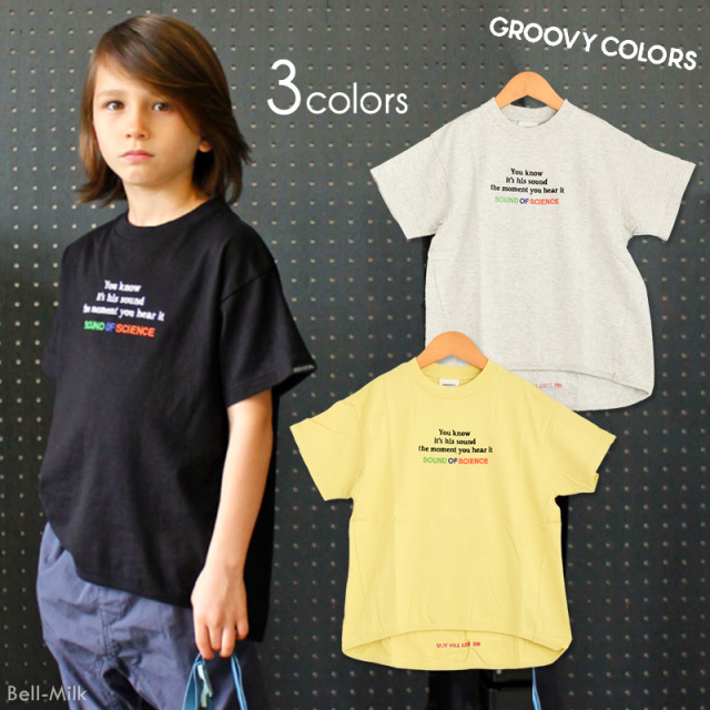 ft-19SS-1692407 GC(グルーヴィーカラーズ) テンジク SOUND OF SIENCE フレアーTEE 【GROOVY COLORS】【19SS】