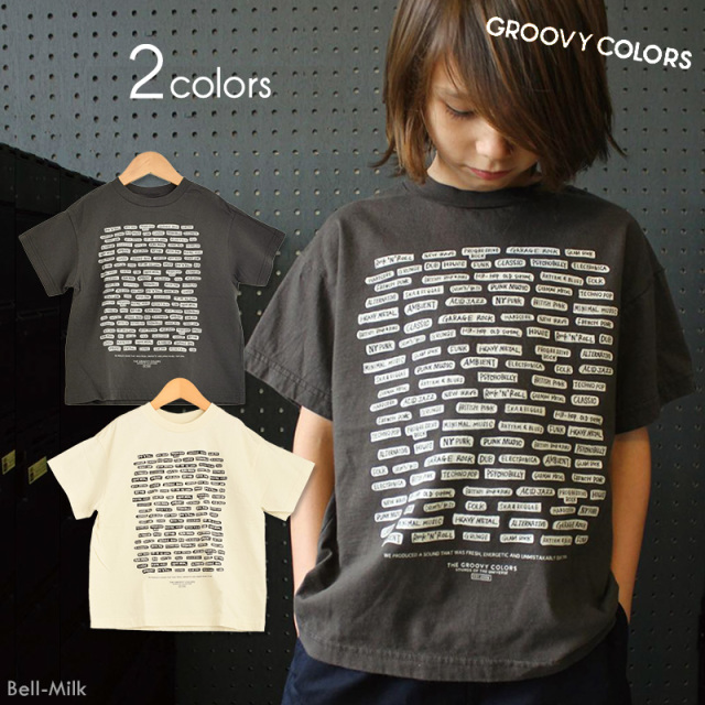 ft-19SS-1692414 GC(グルーヴィーカラーズ) テンジク MUSIC GENRE BIG TEE 【GROOVY COLORS】【19SS】