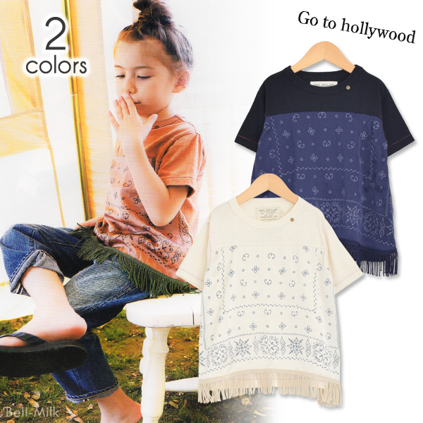 ft-19SS-1292410 GTH(ゴートゥーハリウッド) テンジク キリカエ TEE(フリンジ) 【Go to Hollywood】【19SS】