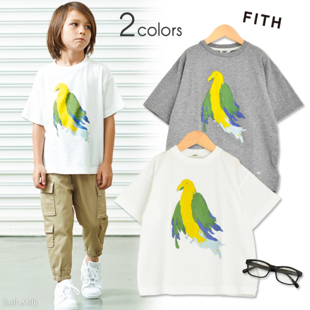 ft-19SS-292406 FITH(フィス) 60//-テンジク Bird BIG Tシャツ 【19SS】
