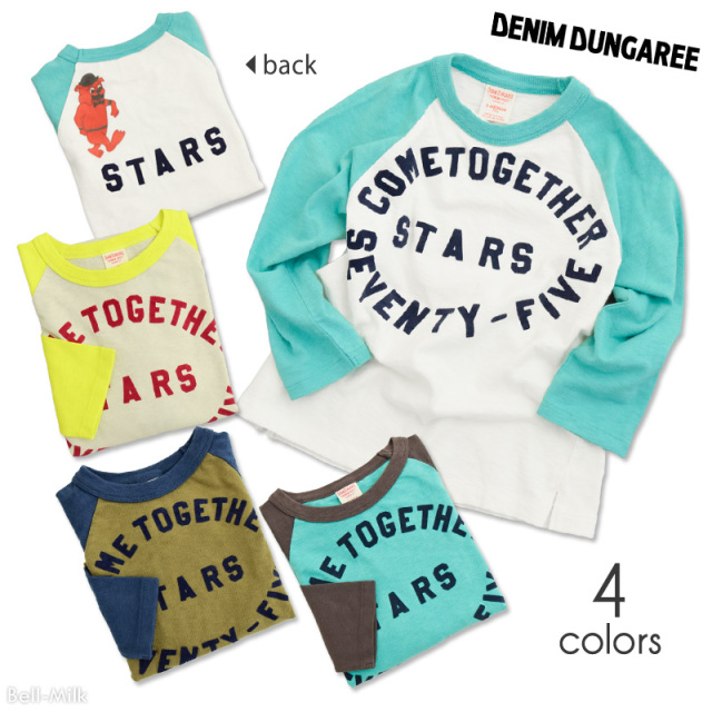 ft-19AW-798422 DD(デニム&ダンガリー) テンジク STARS TEE 【DENIM DUNGAREE】【19AW】