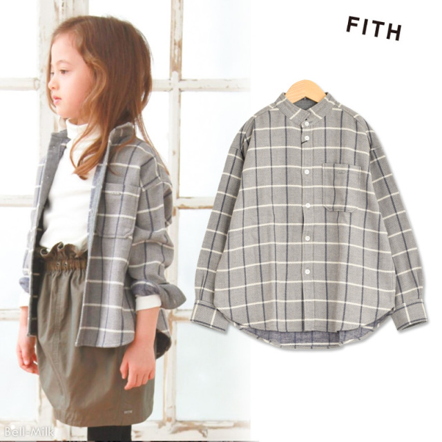ft-19AW-298112 FITH(フィス) コットンツイードCH L/S BIGシャツ 【19AW】