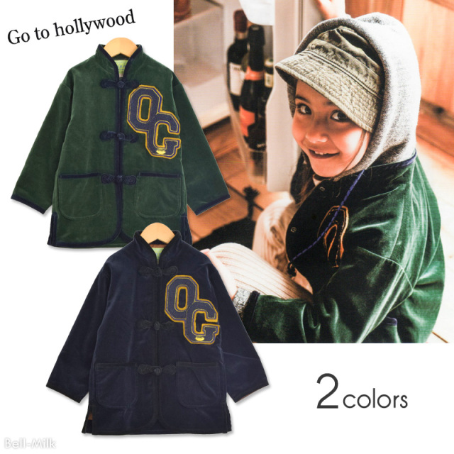 ft-19AW-1298209 GTH(ゴートゥーハリウッド) ベルベット チャイナ JK 【Go to Hollywood】【19AW】