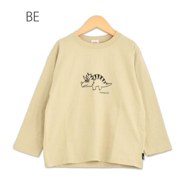br-21sp-810202 JEANS-b 2nd 恐竜 ビッグロングTシャツ【ジーンズベー セカンド】【21年春物】【アメカジ】