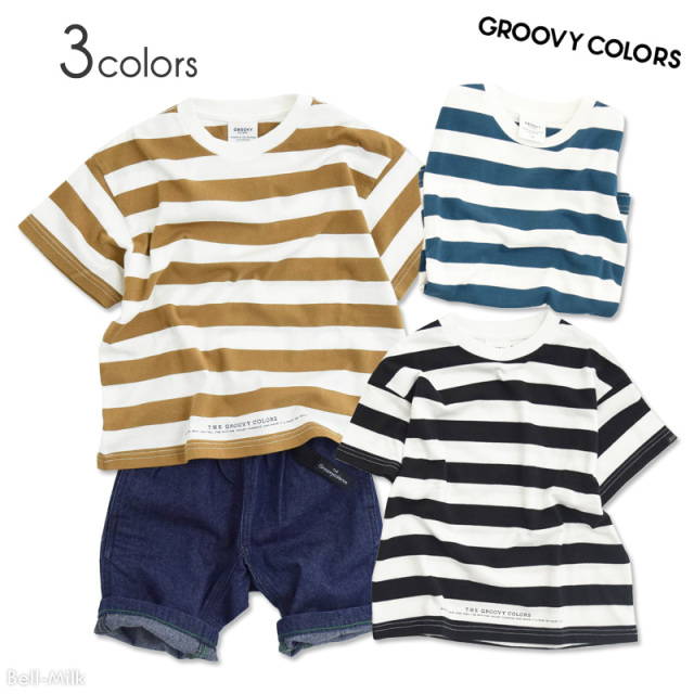 ft-20SS-1602401 GC(グルーヴィーカラーズ) テンジクボーダー STANDARD BIG TEE 【GROOVY COLORS】【20SS】