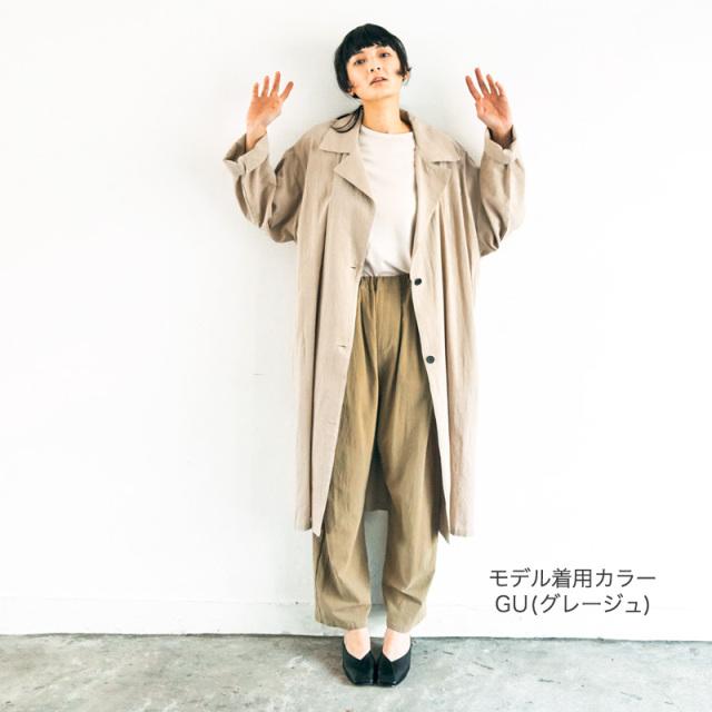 gene-21SP-701104 undeny. ライト トレンチコート【アンディニー】【21年春物】【カジュアル】
