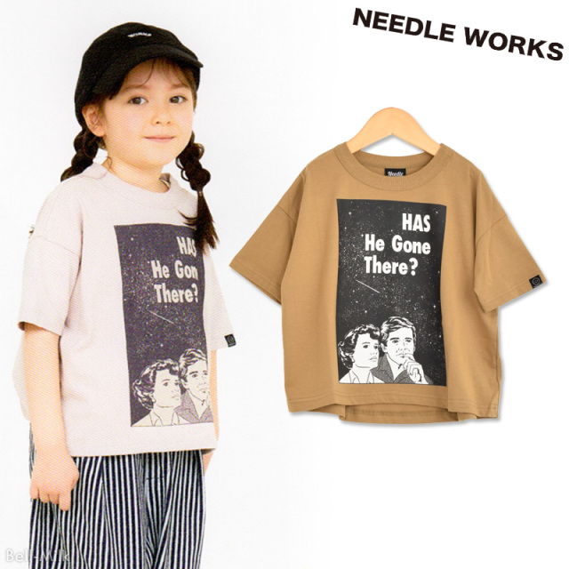 nw-21SP-2121113 NEEDLE WORKS Has He Gone There ビッグTシャツ 【ニードルワークス】【21年春物】