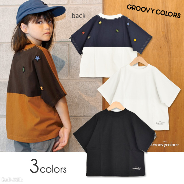 ft-20SS-1602404 GC(グルーヴィーカラーズ) テンジク STAR WIDE シルエット TEE 【GROOVY COLORS】【20SS】