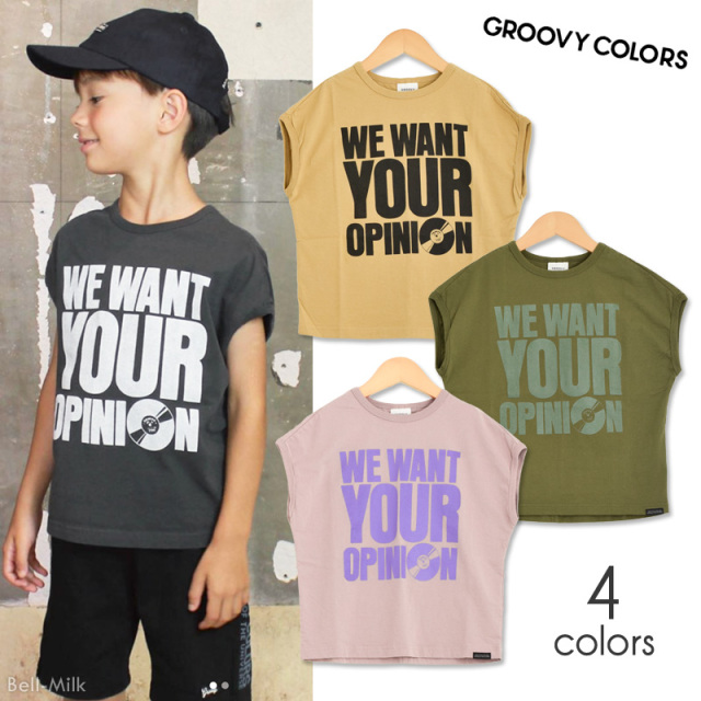 ft-20SS-1602413 GC(グルーヴィーカラーズ) テンジク WE WANT YOUR OPINION TEE 【GROOVY COLORS】【20SS】