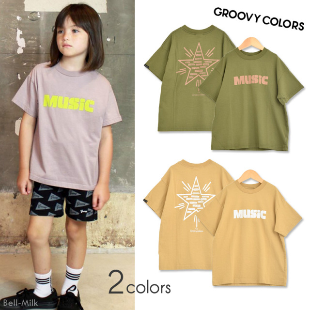 ft-20SS-1602418 GC(グルーヴィーカラーズ) テンジク MUSIC GENRE2 BIG TEE 【GROOVY COLORS】【20SS】