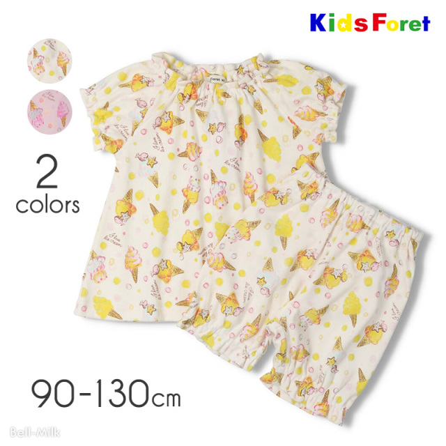 mrtk-21ss-B35702 Kids Foret アイス柄パジャマ〈半袖〉 【キッズフォーレ】