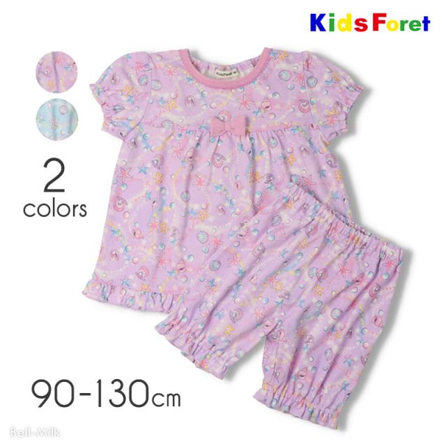 mrtk-21ss-B35703 Kids Foret シェル柄パジャマ〈半袖〉 【キッズフォーレ】
