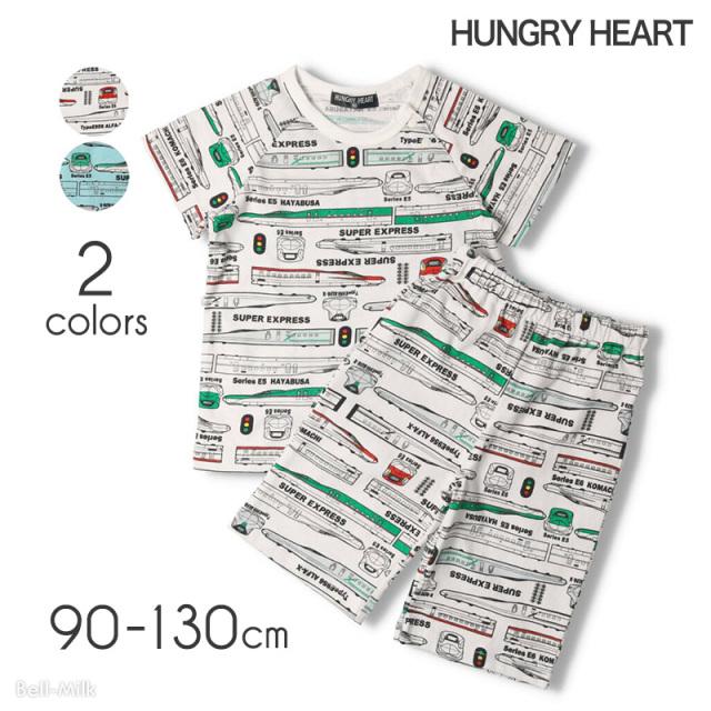 mrtk-21ss-K87752 Hungry Heart 新幹線 総柄パジャマ〈半袖〉 【ハングリーハート】