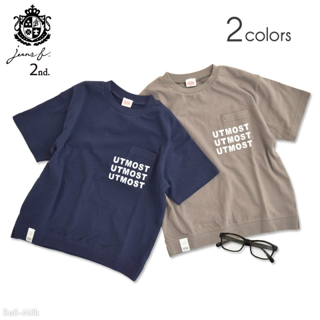br-21sm-810137 Jeans-b 2nd UTMOST ややビッグTシャツ 【ジーンズベー セカンド】【21年夏物】【アメカジ】